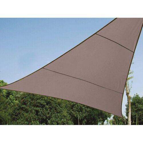 Perel Sonnensegel, dreieckig Dreieck-Segel für Terrasse Balkon & Garten Sonnenschutz-Segel - Terrassenüberdachung, Braun
