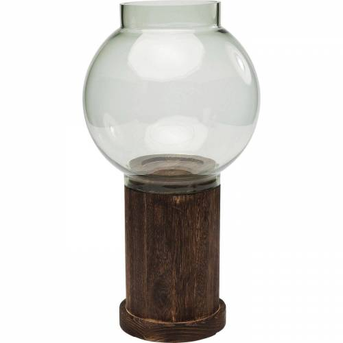 KARE Kerzenständer »Windlicht Podium Grün 24cm«