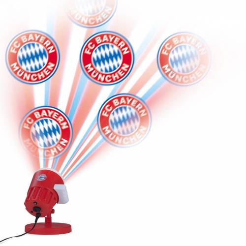 FC Bayern LED Motivstrahler, mit FCB-Logo