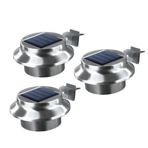 EASYmaxx Dachrinnenleuchten, Solar 3er Set