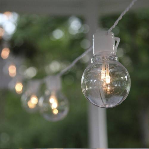 STAR TRADING LED-Lichterkette »LED Party Lichterkette 16 klare beleuchtete Kugeln L: 4,5m Balkon Terrasse«, 16-flammig
