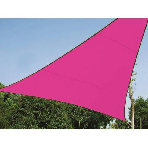 Perel Sonnensegel, dreieckig Dreieck-Segel für Terrasse Balkon & Garten Sonnenschutz-Segel - Terrassenüberdachung, Pink