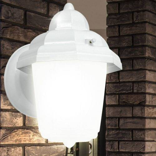 EGLO LED Laterne, Moderne Außen Beleuchtung Wand Lampe Leuchte Laterne weiß E27 Strahler 30437