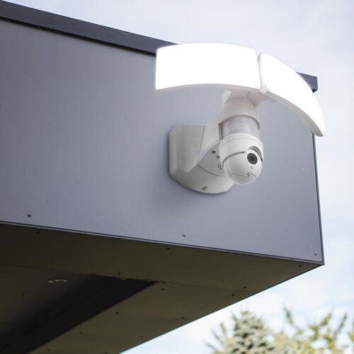 LUTEC LED Außen-Wandleuchte »Libra IP44 3000lm Weiß mit Kamera«