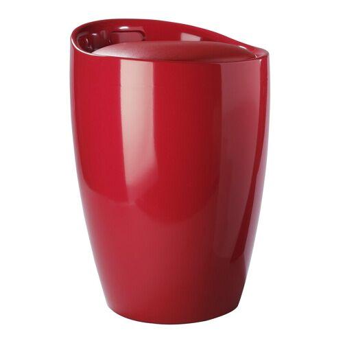 heine home Badhocker mit integriertem Wäschesammler, rot