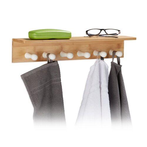 relaxdays Handtuchhalter »Handtuchhalter Bambus für die Wand«