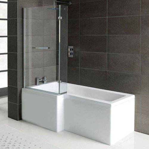 HAK Badewanne »Raumsparbadewanne Syna, +Wannenträger+Duschkabine«, 167,5x85/70cm