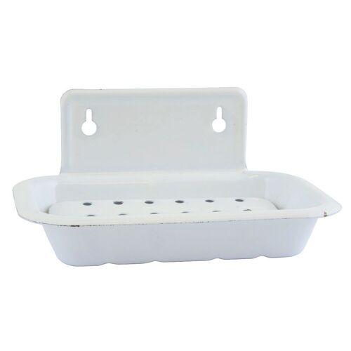 Ib Laursen Seifenschale »Seifenschale Wandseifenschale Seifenhalter Emaille Antik Weiß Laursen 0422-11«