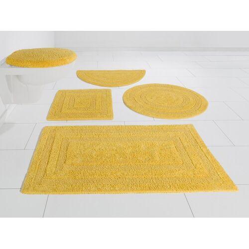 my home Badematte »Kari« , Höhe 10 mm, Beidseitig verwendbar, gelb