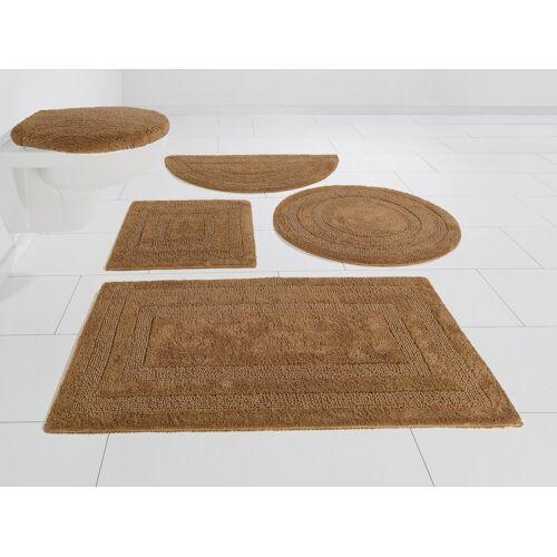 my home Badematte »Kari« , Höhe 10 mm, Beidseitig verwendbar, sand