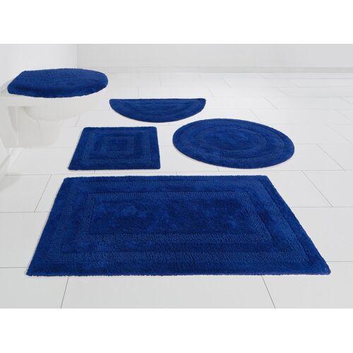 my home Badematte »Kari« , Höhe 10 mm, Beidseitig verwendbar, blau