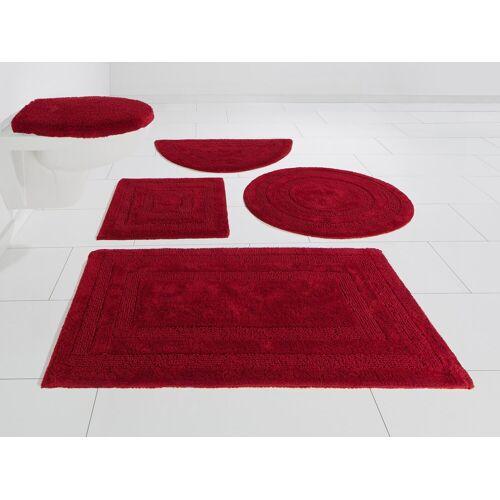 my home Badematte »Kari« , Höhe 10 mm, Beidseitig verwendbar, rot