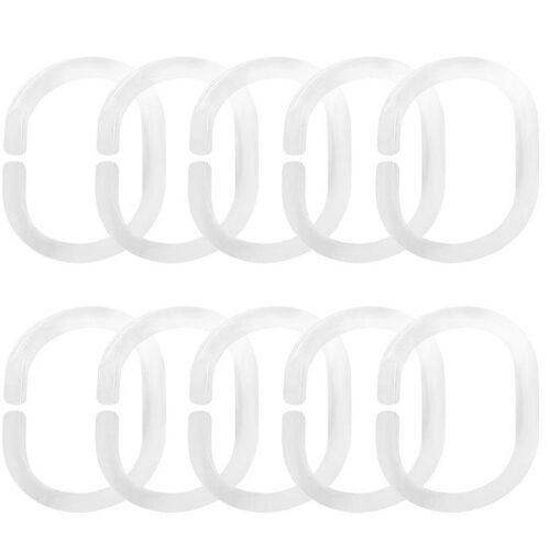 Good Life Gardinenring »Clara«, , Vorhänge, (Set, 10-St), offen / geschlossen (10 Stück), transparent