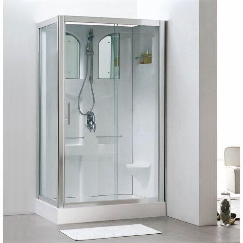 Schulte Fertigdusche »Komplettduschkabine«, BxT: 120 x 80 cm, weiß