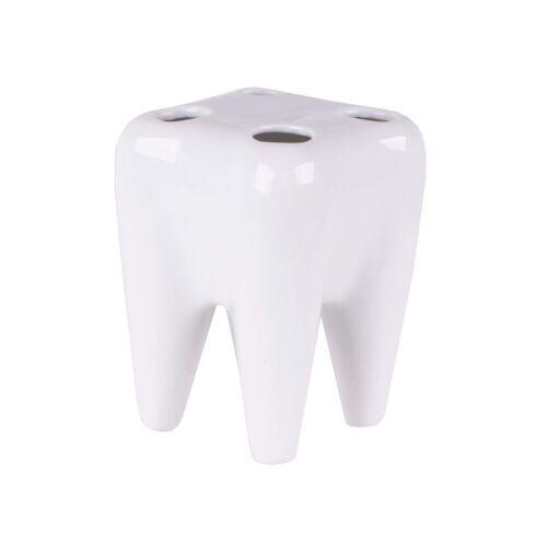 HTI-Living Zahnbürstenhalter für 4 Bürsten, Weiß