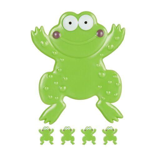 relaxdays Antirutsch-Aufkleber »Badesticker Frosch im 5er Set«, B: 12 cm, L: 0.3 cm