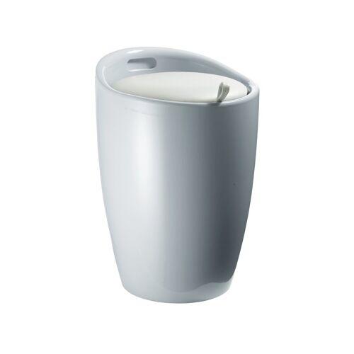 heine home Badhocker mit integriertem Wäschesammler, grau