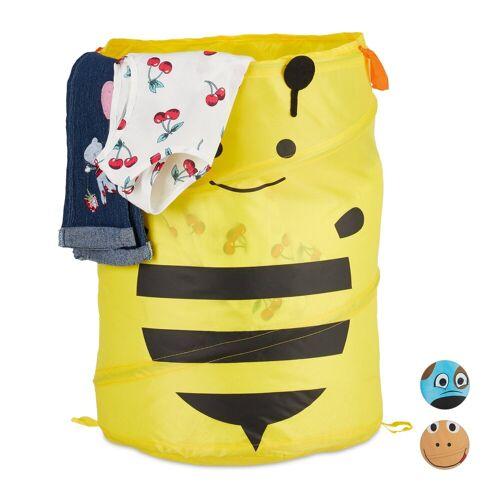 relaxdays Wäschekorb »Pop-Up Wäschekorb für Kinder«, Gelb