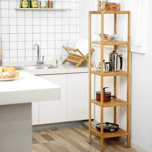 SONGMICS Küchenregal »BCB55Y«, Badezimmerregal Standregal, natur