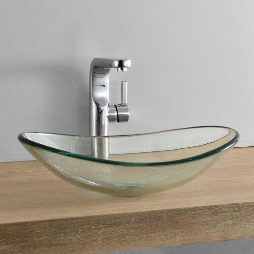 neu.haus Aufsatzwaschbecken, »Bodø« Waschbecken aus Glas oval