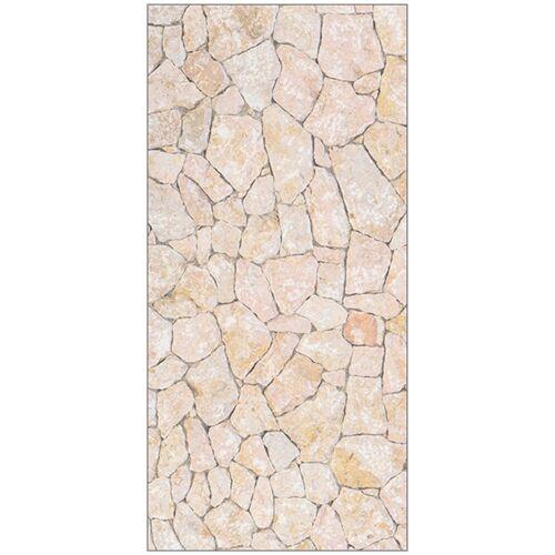 MySpotti Duschrückwand »fresh F3 Natursteinwand Beige«, 100 x 210 cm, natur