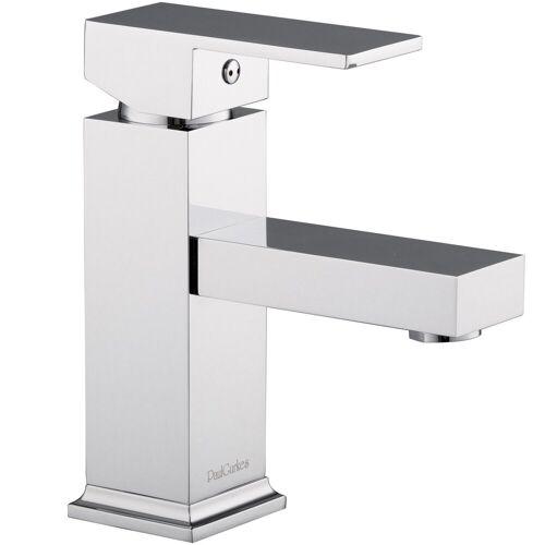 PaulGurkes Waschtischarmatur »PGVM16« Waschtischarmatur Aufputz Wasserhahn Eckig Wasserhahn
