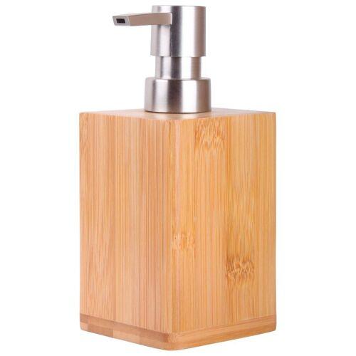 Sanilo Seifenspender »Bambus«, mit stabiler und rostfreien Pumpe, braun / holzoptik