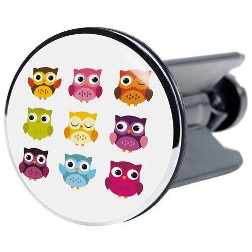 Sanilo Stöpsel »Owl«, für Waschbecken, Ø 4 cm, bunt