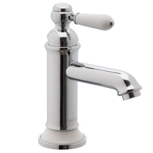PaulGurkes Waschtischarmatur »PGLUNA16« Waschtischarmatur Retro Nostalgie weiß chrom Wasserhahn