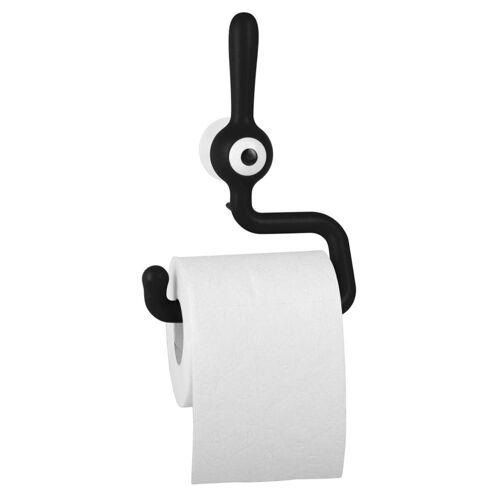 KOZIOL Toilettenpapierhalter »Toq Solid Schwarz«, mit Saugnapf