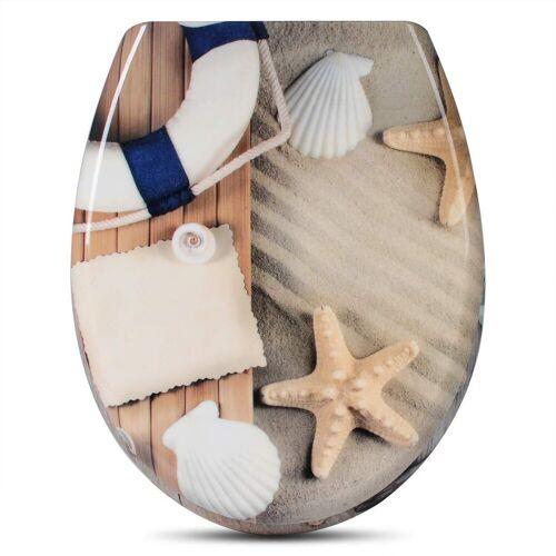 Woltu WC-Sitz, Toilettensitz WS2551 Duroplast Toilettendeckel Klodeckel mit Absenkautomatik