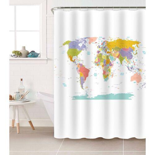 Duschvorhang »Weltkarte« Breite 200 cm, 180 x 200 cm
