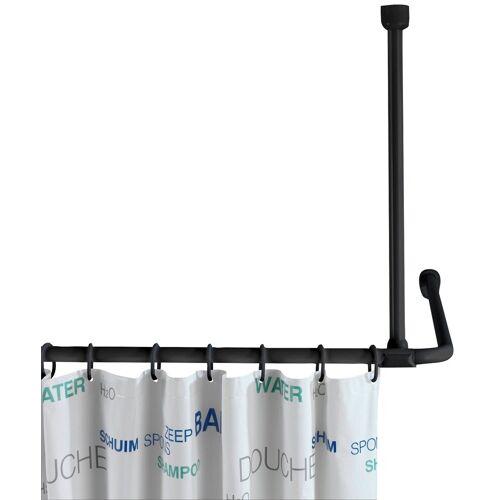 WENKO Duschstange, , Fixmaß, Deckenstütze für Duschvorhangstange