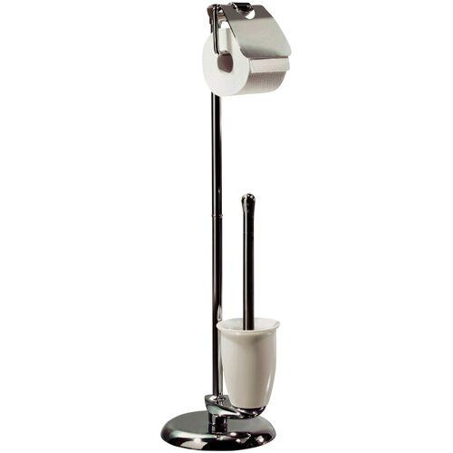 spirella WC-Garnitur »DARWIN«, , Garnitur Toilettenbürste und Toilettenpapierhalter, chrom