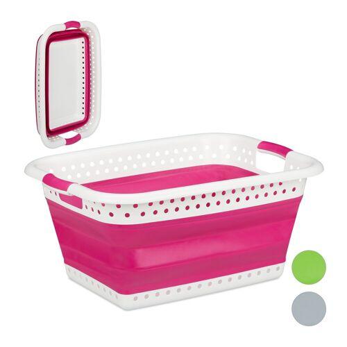 relaxdays Wäschekorb »Faltbarer Wäschekorb«, Pink
