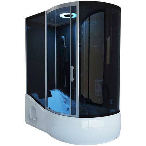HOME DELUXE Dampfdusche »ALL IN - 4 in 1«, BxT: 170x90 cm, Dampfdusche/Wanne/Whirlpool/Sauna