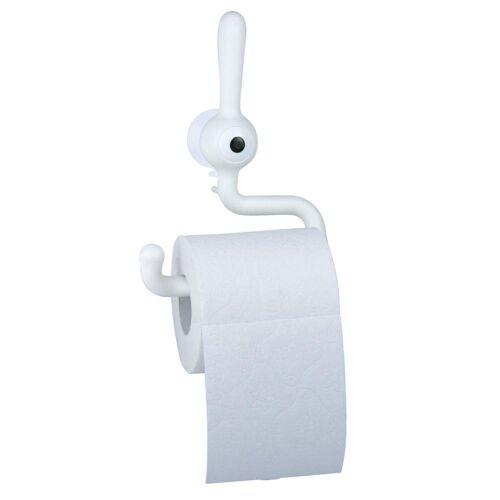 KOZIOL Toilettenpapierhalter »Toq Solid Weiß«, mit Saugnapf
