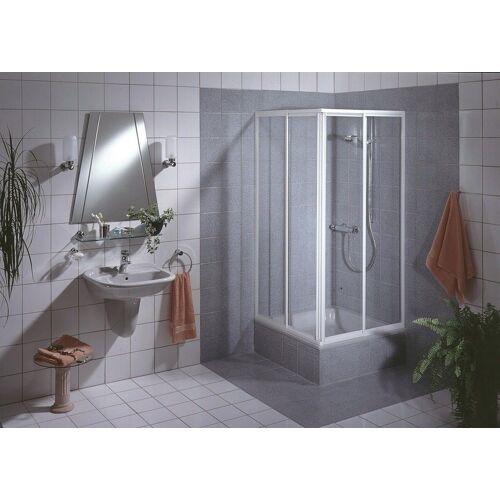 Schulte Eckdusche »Sunny«, variabel verstellbar 80-90 cm, Duschkabine, BxT: 90 x 90 cm, weiß