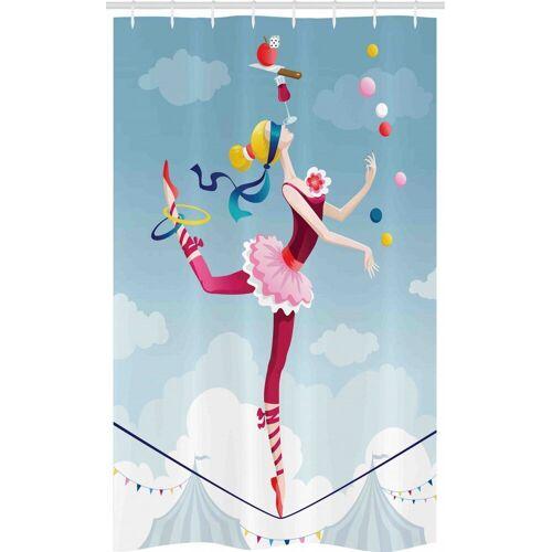 Abakuhaus Duschvorhang »Badezimmer Deko Set aus Stoff mit Haken« Breite 120 cm, Höhe 180 cm, Zirkus Juggler Frau Trapeze