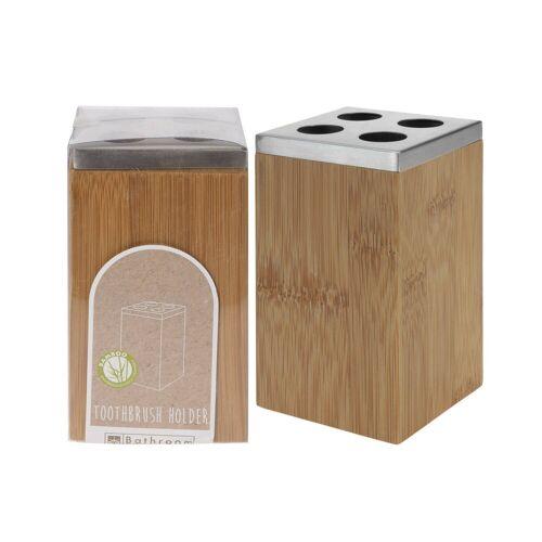 HTI-Living Zahnputzbecher »Zahnbürstenhalter Bambus«, Zahnbürstenhalter