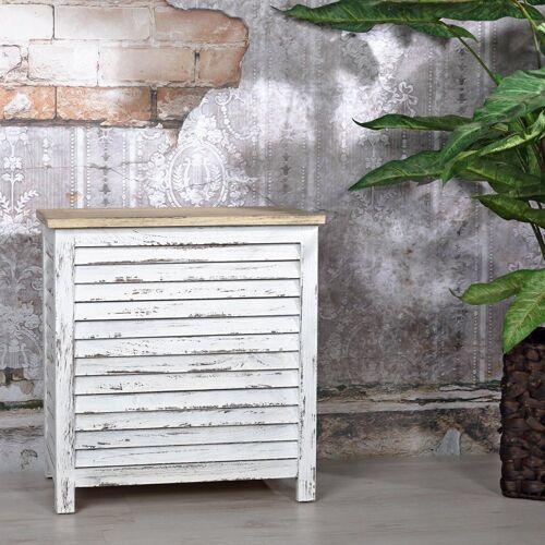 Mucola Wäschetruhe »Wäschesammler Holzbox Holztruhe Wäschebox Wäschekorb Wäschetonne«, Lamellen
