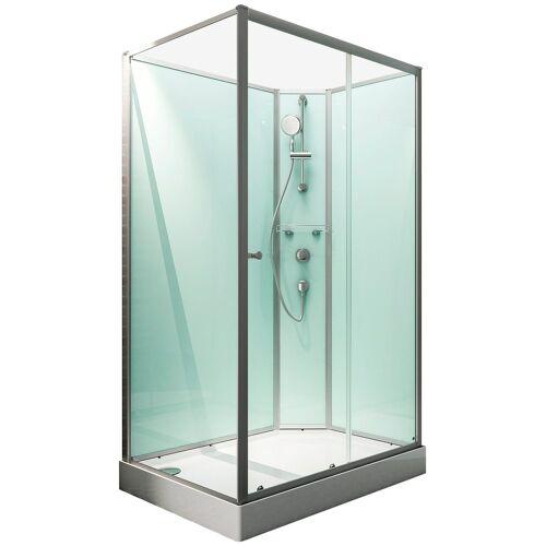 Schulte Komplett-Set: Komplettdusche »Ibiza«, BxT: 120 x 90 cm, alufarben