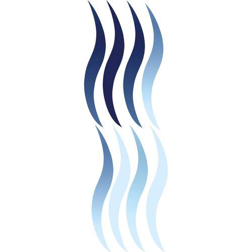 Kleine Wolke Selbstklebefolie »Wave«, für Badezimmer- und Duschtrennwände, blau