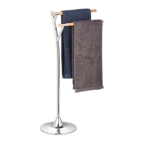 relaxdays Handtuchständer »Handtuchhalter stehend aus Stahl«
