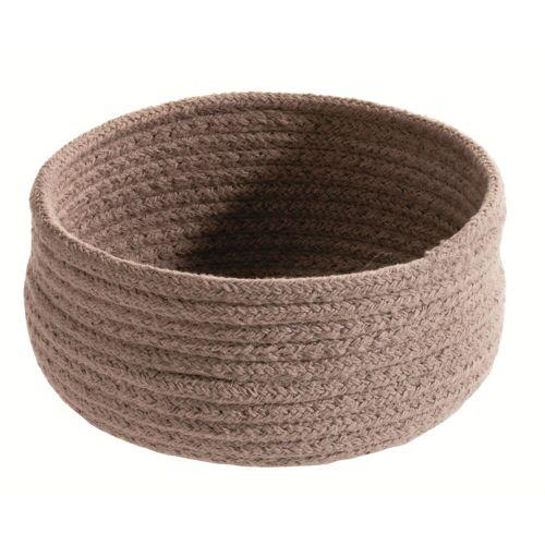 spirella Aufbewahrungskorb »TOBAGO« (1 Stück), Aufbewahrungskorb aus geflochtener Baumwolle, formstabil, Ø 17x9 cm