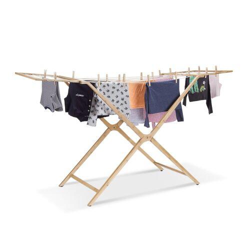 relaxdays Wäscheständer »Wäscheständer Bambus«