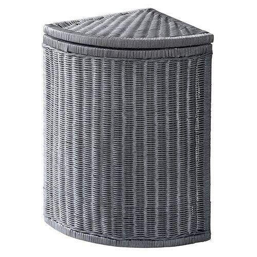 heine home Wäschekorb aus Rattangeflecht, grau