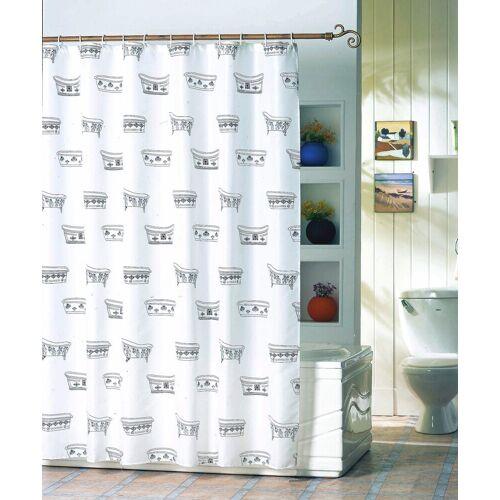 MSV Duschvorhang »Badewanne«, Breite 180 cm, weiß