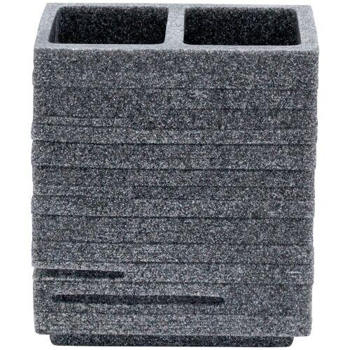 RIDDER Zahnbürstenhalter »Brick«, BxH: 10x11 cm, grau