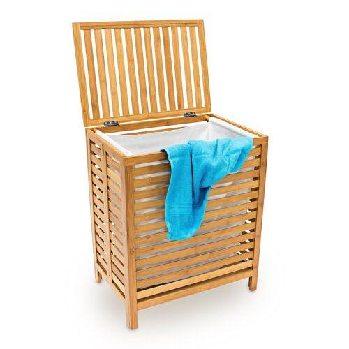 relaxdays Wäschetruhe »Wäschetruhe Holz«